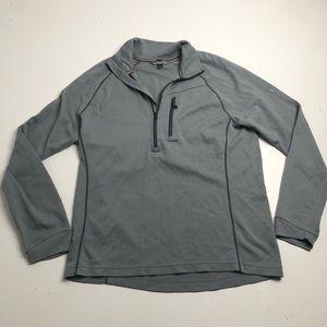 Smartwool Merino Wool Gray Half Zip Sweater Large